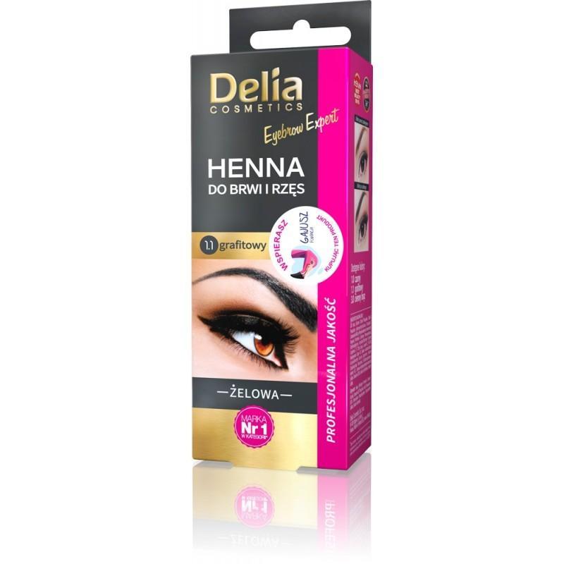DELIA Henna Gel für Wimpern und Augenbrauen Graphit