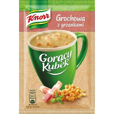 Knorr Goracy Kubek Erbsensuppe Grochowa mit Croutons 21 g